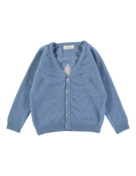 Buy Olivier Baby Cashmere Star Cardigan in Blue Haze | Roses and the Stars