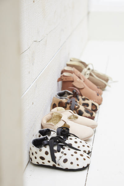 Buy Donsje, Brown Suede Baby Booties | Roses and the Stars