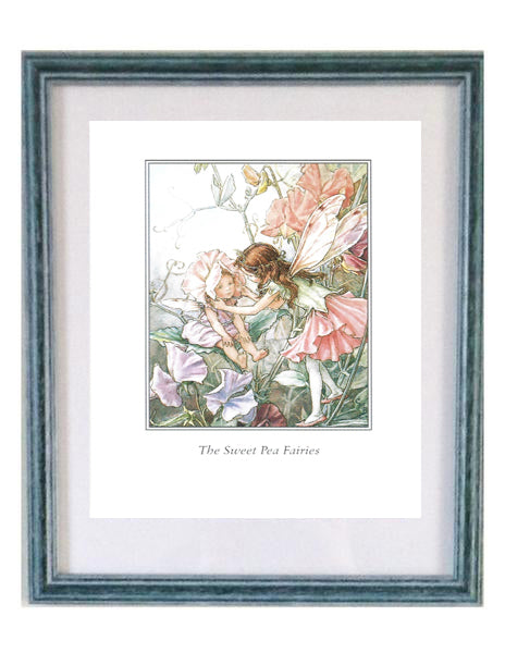 Buy Flower Fairy Sweet Pea Framed Print | Roses and the Stars