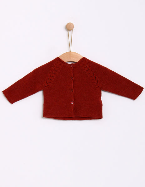 Buy Knot Cardigan, Tabasco Red | Roses and the Stars