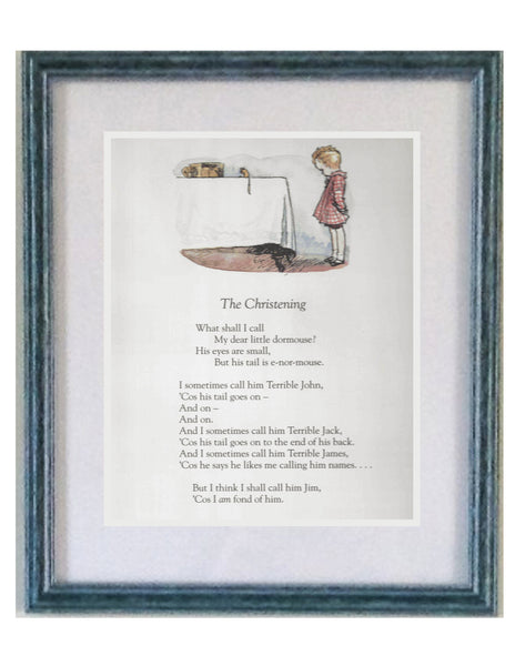 The Christening, A A Milne, Framed Print | Roses and the Stars