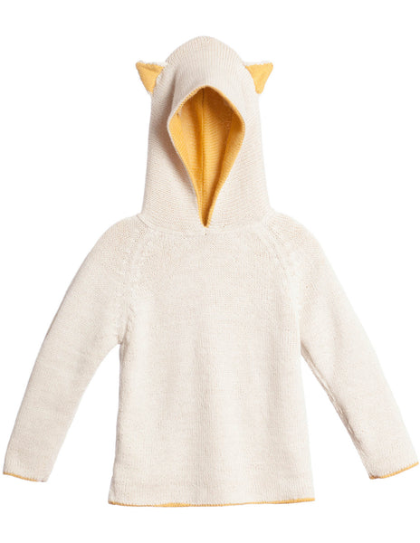 Buy Waddler Reversible Animal Hoodie, Yellow and Cream | Roses and the Stars
