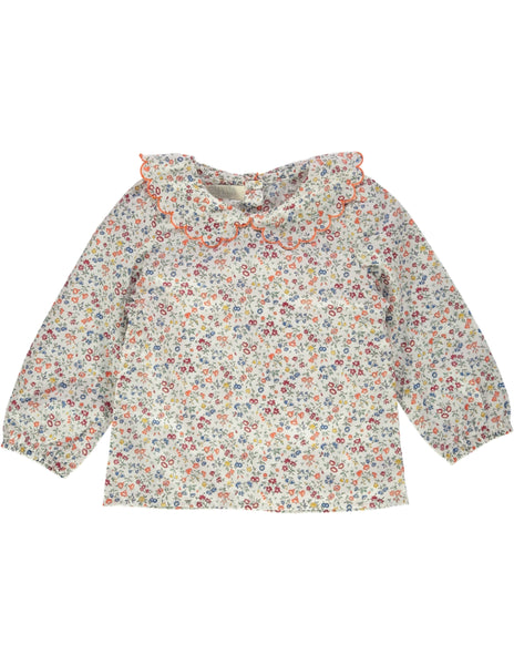 Buy Olivier Baby Liberty Print Blouse | Roses and the Stars