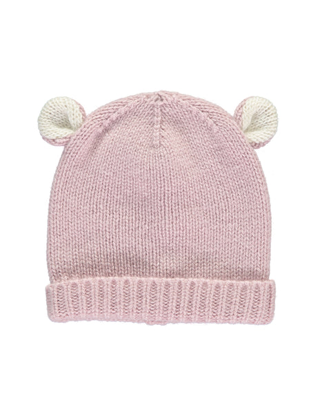 Buy Cashmere Bear Hat, Rose Pink | Roses and the Stars