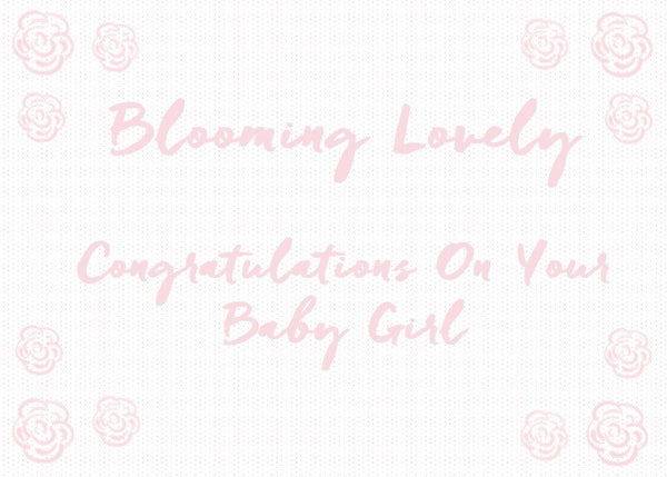 Baby Girl Gift Card | Roses and the Stars
