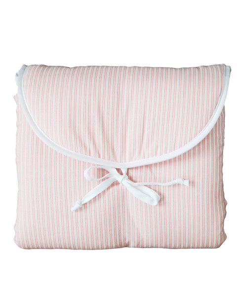 Buy Blossom Paris baby changing mat with coral pink stripes | Roses and the Stars