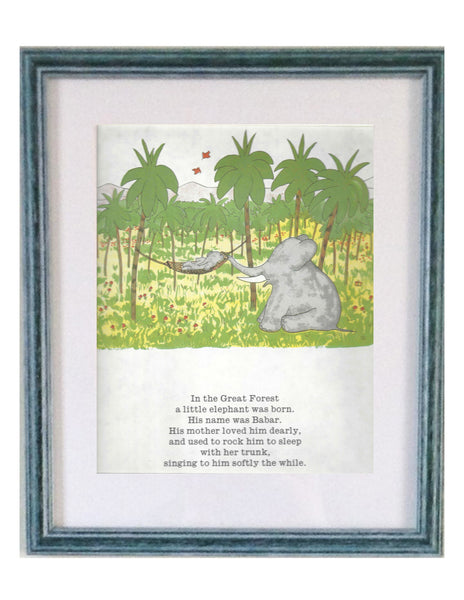 Buy Babar Mummy Elephant Print | Roses and the Stars