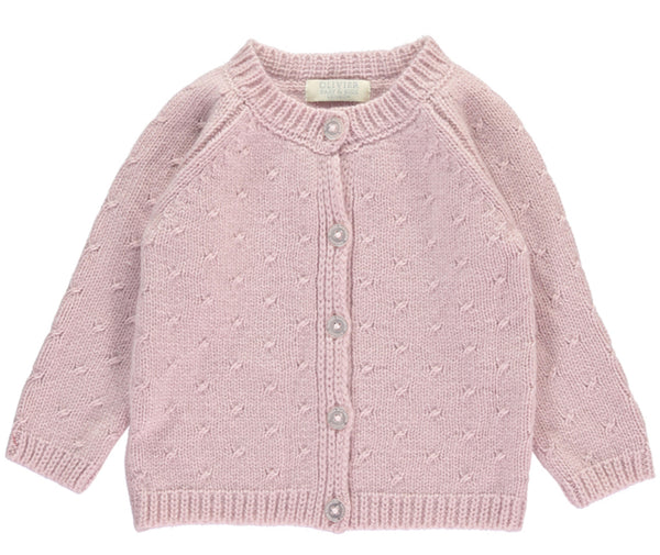 Buy Pink Cashmere Baby Cardigan | Roses and the Stars