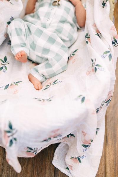 Buy Little Unicorn Muslin Swaddle, Watercolour Rose | Roses and the Stars