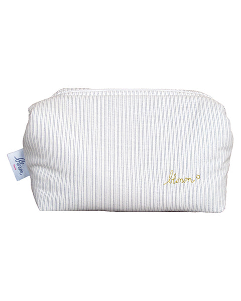 Buy Blossom Paris wash bag, toileteries bag, with blue stripes | Roses and the Stars