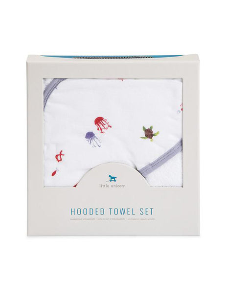 Buy Little Unicorn, Hooded Towel, Mermaid | Roses and the Stars