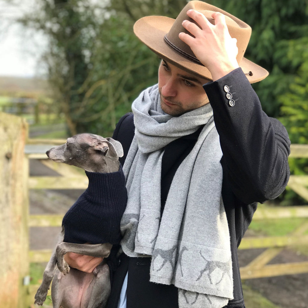 Seb Jones Cashmere Trotting Whippet Wrap