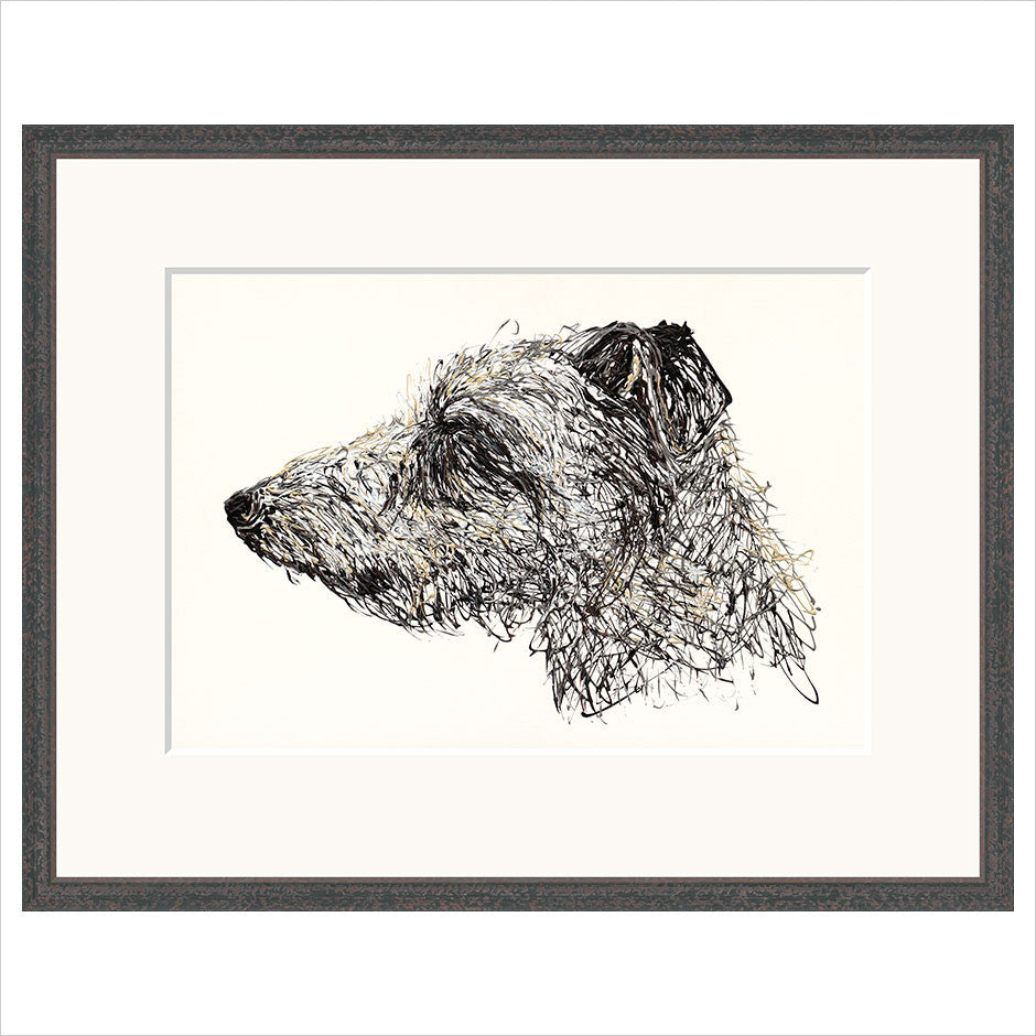 Lurcher limited edition fine art framed