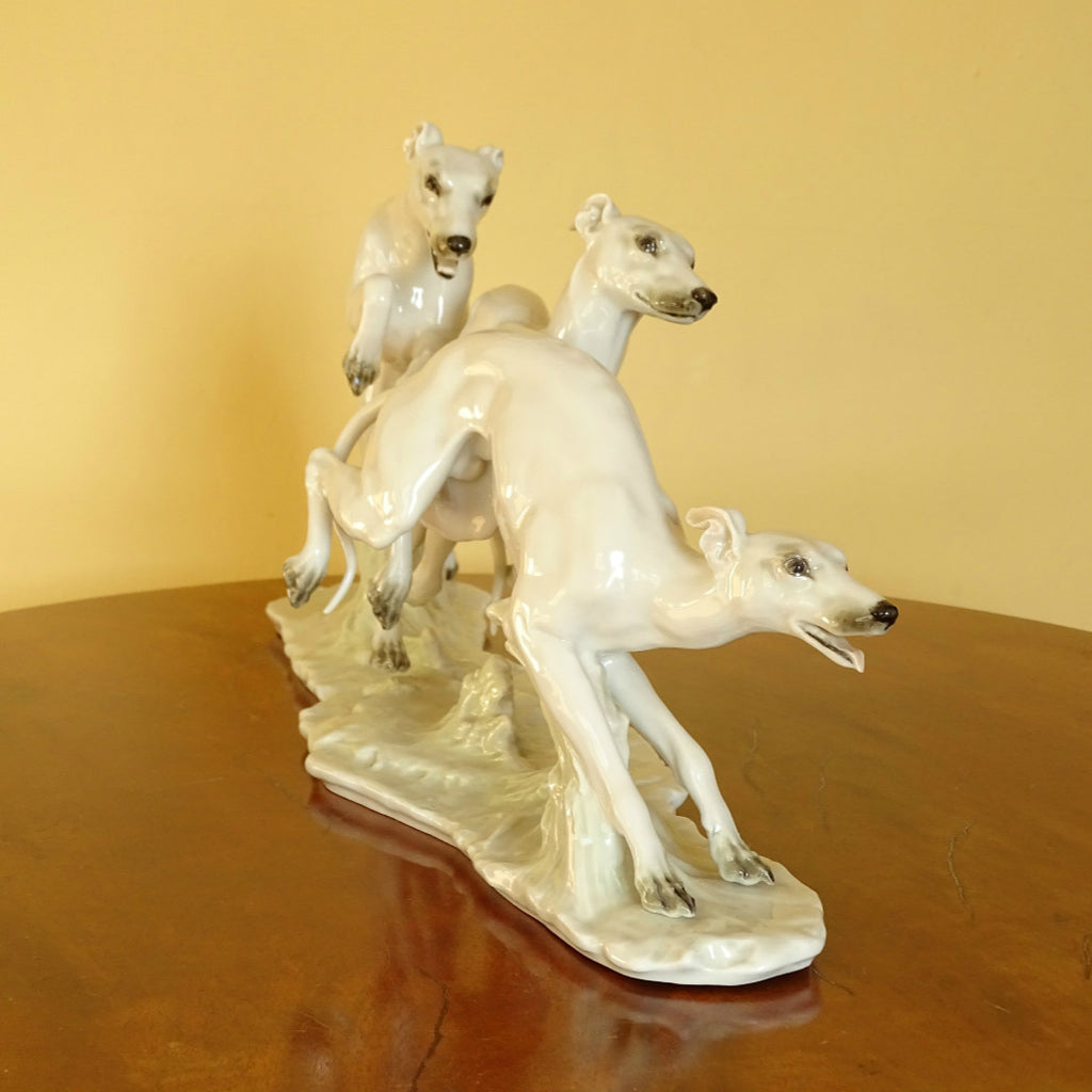 Large Porcelain Sighthound Group ***SOLD***