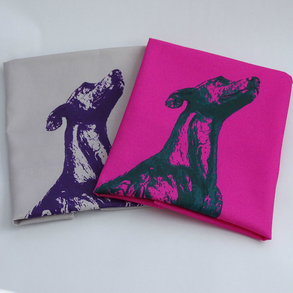 Vibrant Whippet Tea Towel