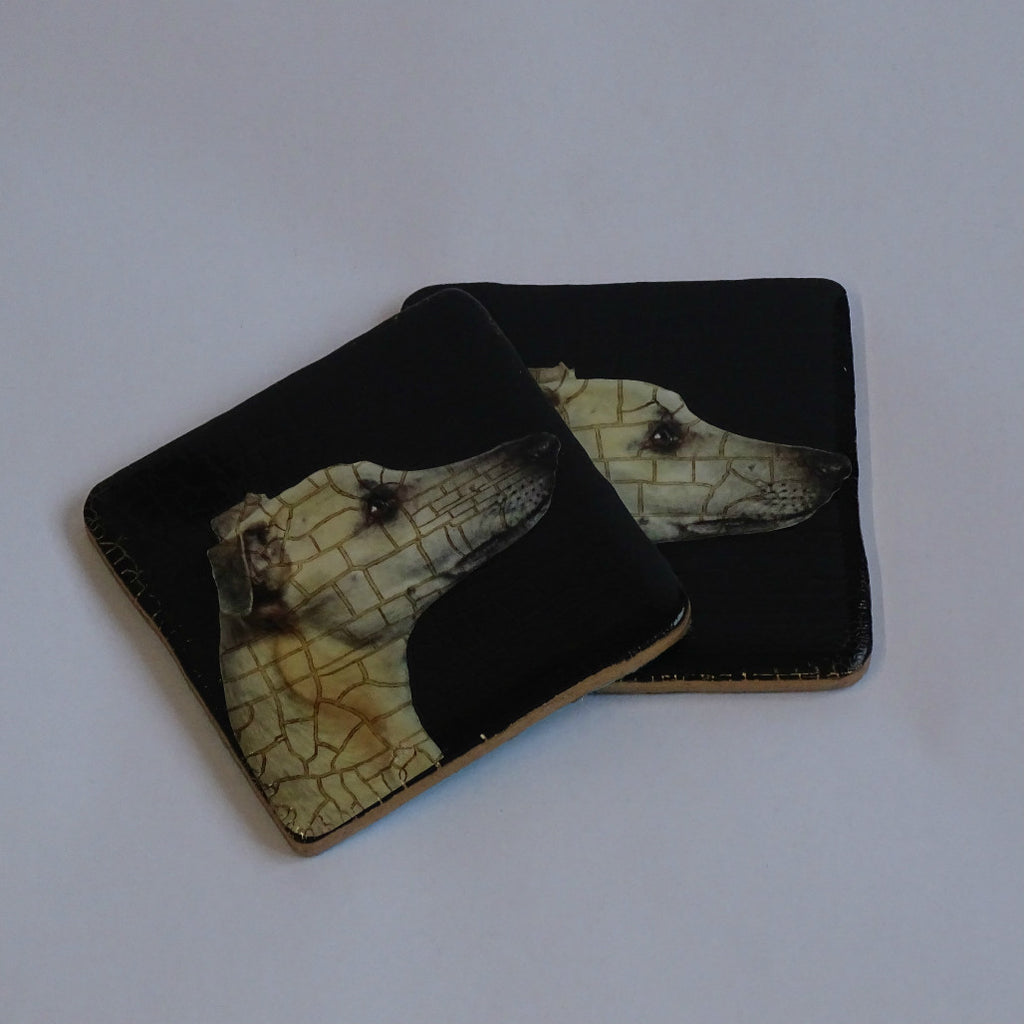 Ceramic Whippet Coasters