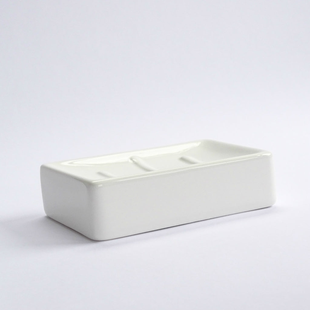 Glazed Ceramic Soap Dish