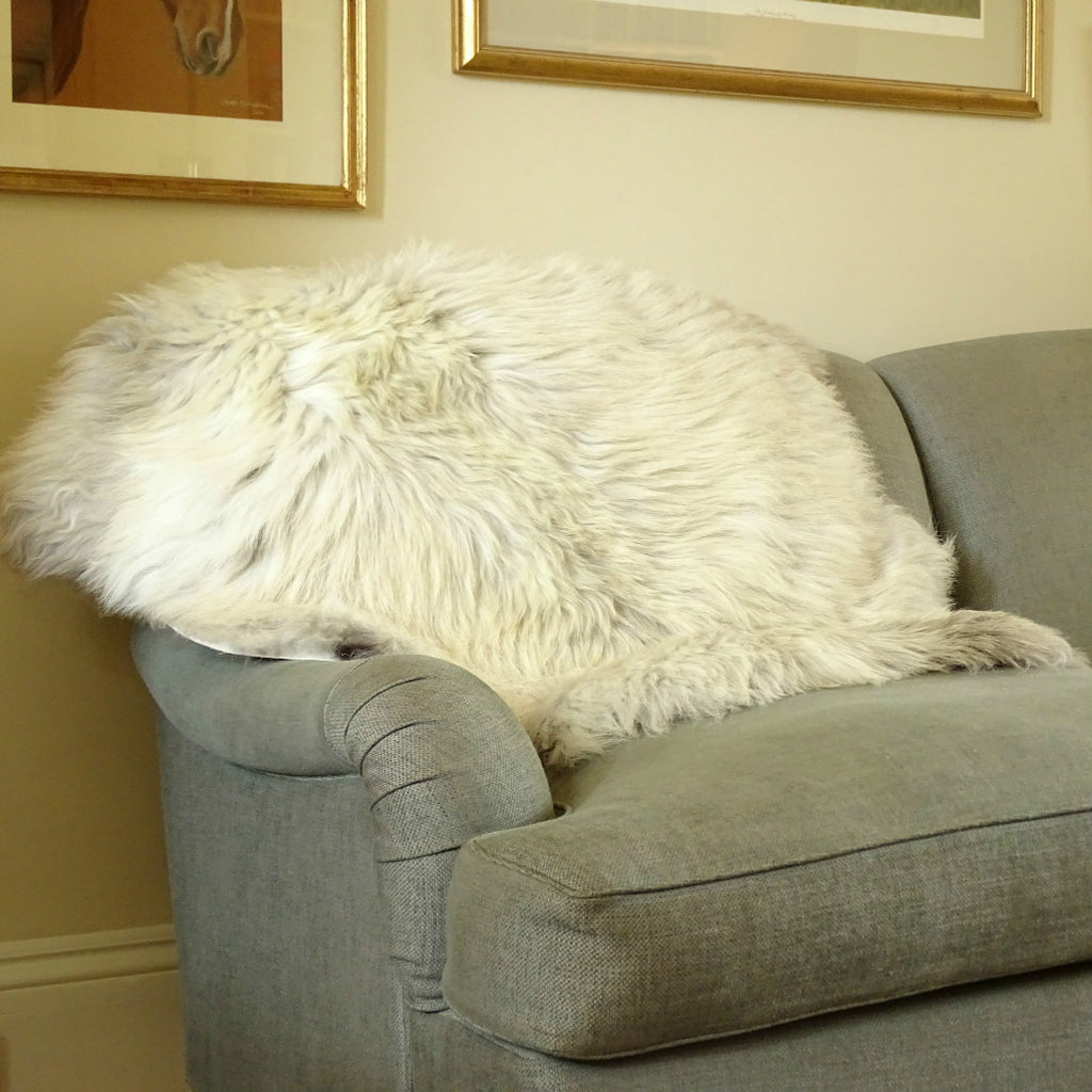 Herdwick sheepskin white