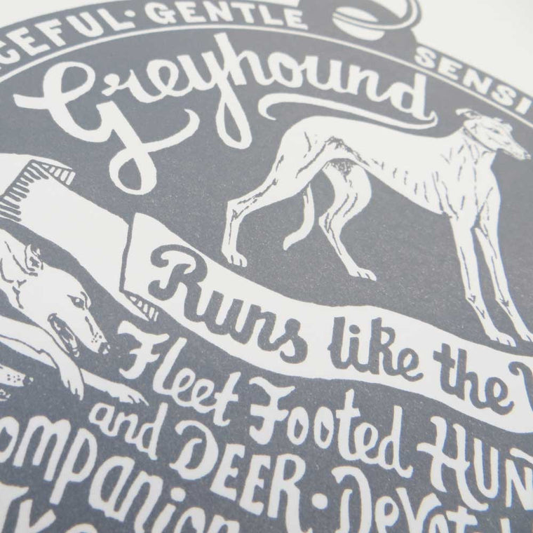 Greyhound 'Dog Tag' Print