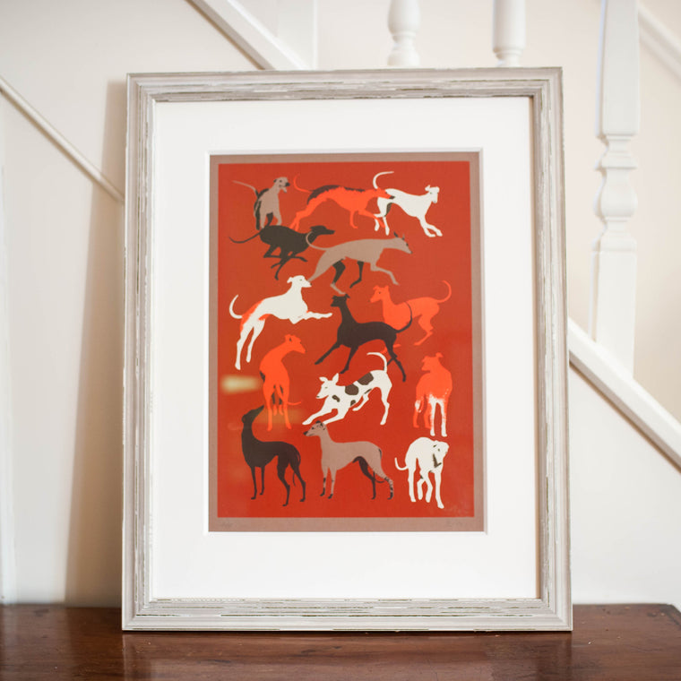'Gazehounds' - Limited Edition Sighthound Silk Screen Print by Eliza Southwood