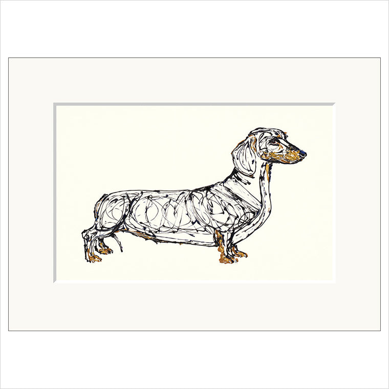 Sausage dog limited edition fine art print unframed