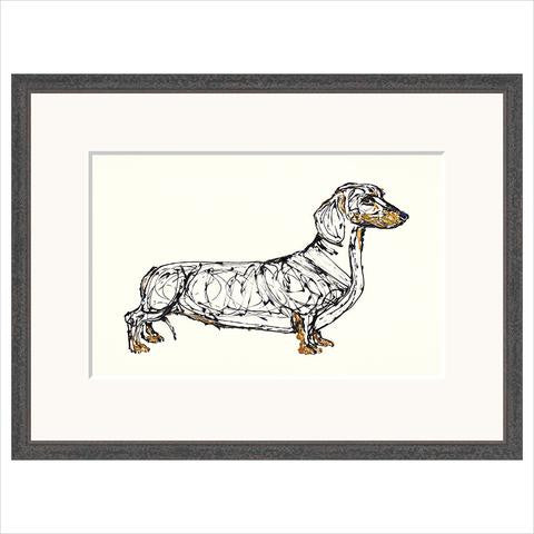 Sausage dog limited edition fine art print framed