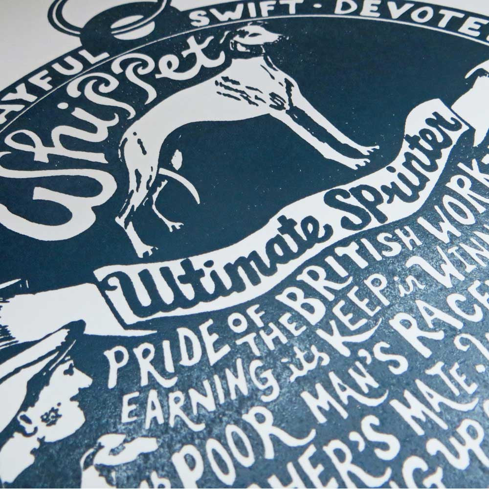 Whippet 'Dog Tag' Print