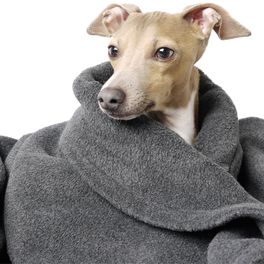 Charley Chau Double Fleece blanket in Charcoal