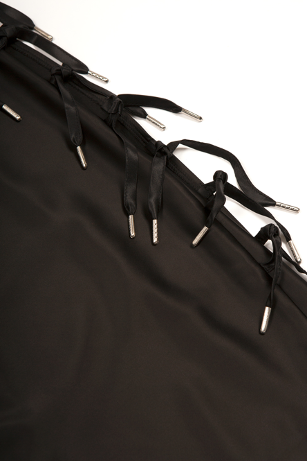 Expando Mini Skirt Black Skirt - HANGER inc - Made in London Sustainable Ethical Designer Fashion Latex Rubber Clothing