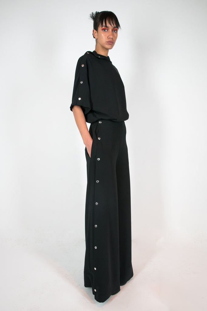 Poppu Trouser Black Trousers - HANGER inc - Made in London Sustainable Ethical Designer Fashion Latex Rubber Clothing