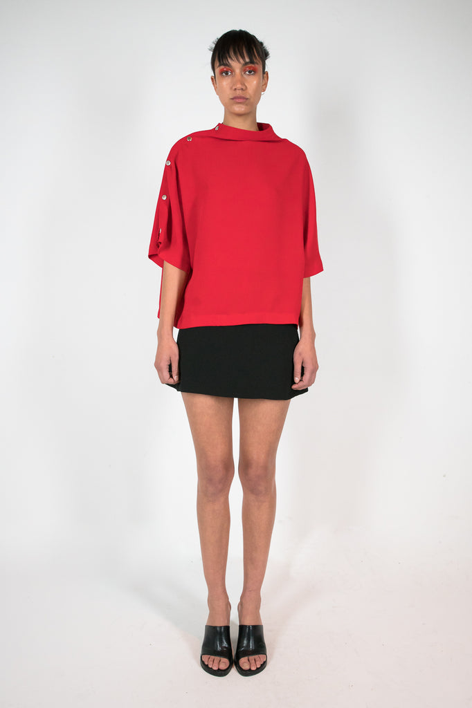 Poppu Top Red Top - HANGER inc - Made in London Sustainable Ethical Designer Fashion Latex Rubber Clothing