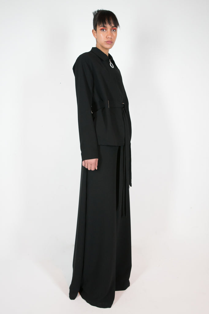Ana Jacket Black Jacket - HANGER inc - Made in London Sustainable Ethical Designer Fashion Latex Rubber Clothing