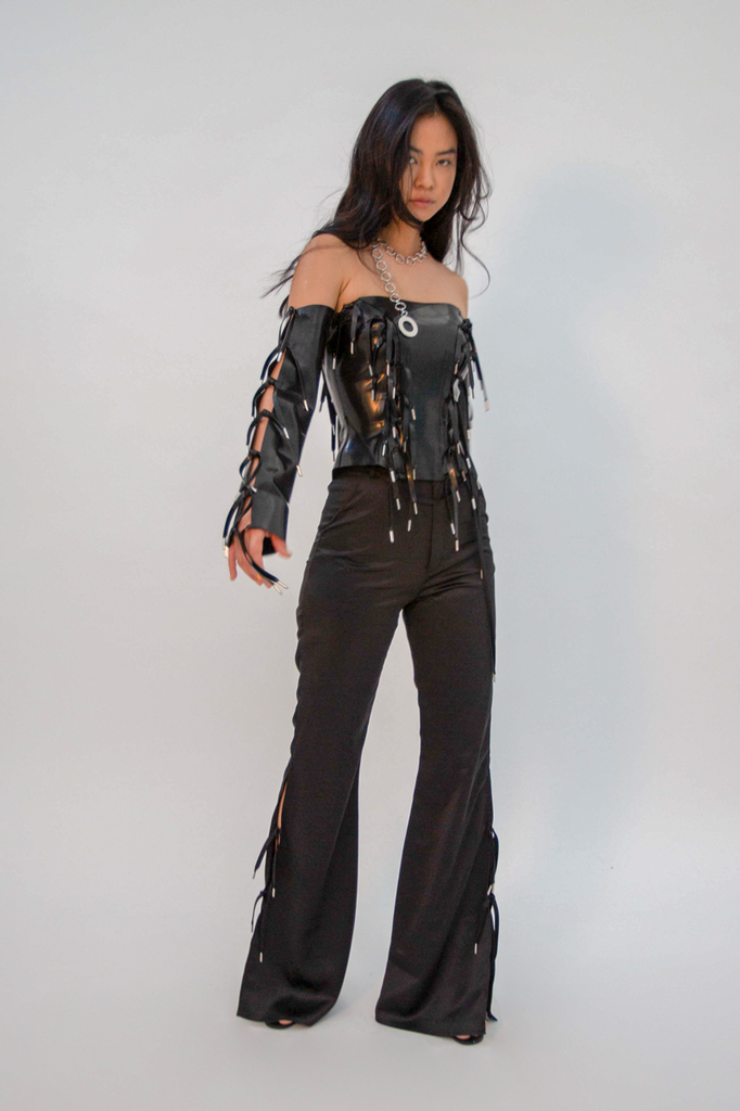 Expando Corset Latex Top - HANGER inc - Made in London Sustainable Ethical Designer Fashion Latex Rubber Clothing