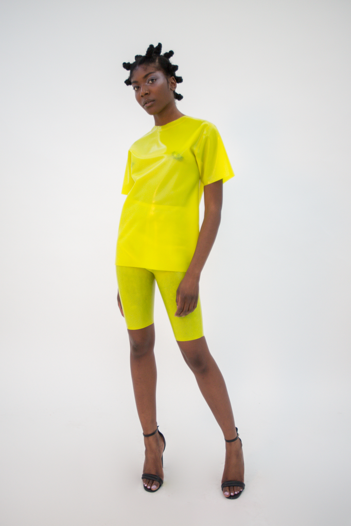 Shinpuru Tee Acid Top - HANGER inc - Made in London Sustainable Ethical Designer Fashion Latex Rubber Clothing