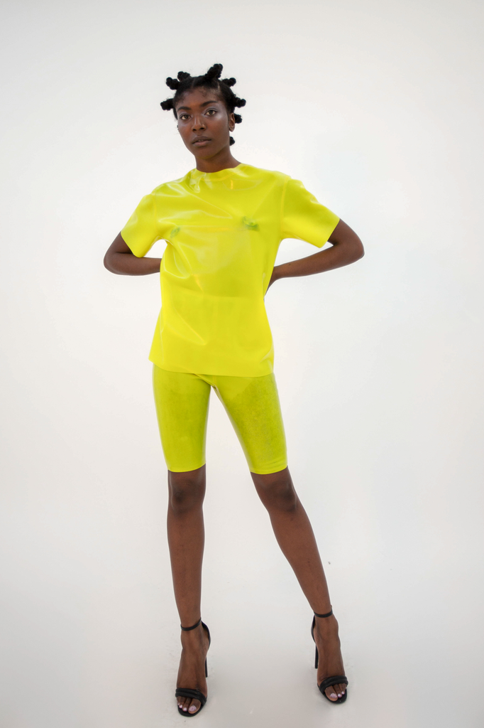 Shinpuru Tee Top - HANGER inc - Made in London Sustainable Ethical Designer Fashion Latex Rubber Clothing