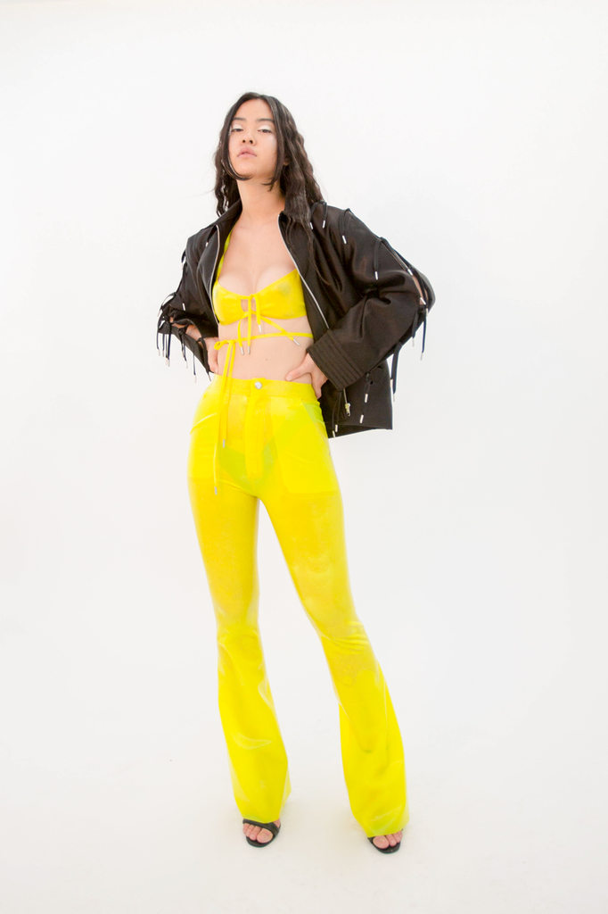 Furea Trouser Acid Trousers - HANGER inc - Made in London Sustainable Ethical Designer Fashion Latex Rubber Clothing