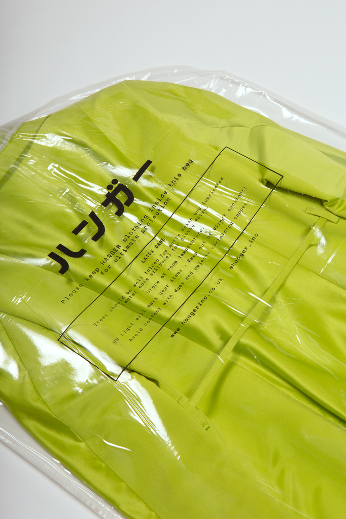 Toumei Garment Bag  - HANGER inc - Made in London Sustainable Ethical Designer Fashion Latex Rubber Clothing