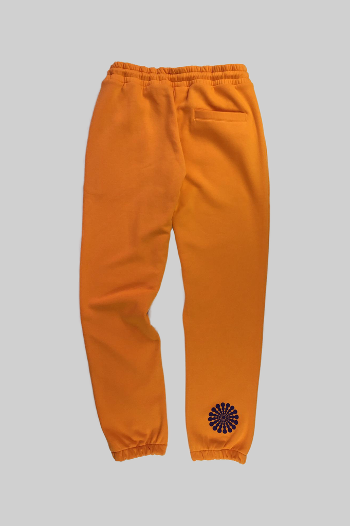 HANGER x UO Sleepy Chan Orange Joggers  - HANGER inc - Made in London Sustainable Ethical Designer Fashion Latex Rubber Clothing