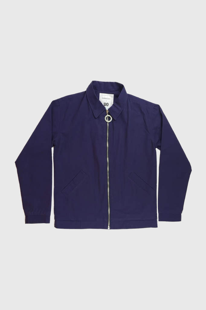 HANGER x UO Sleepy Chan Navy Canvas Jacket  - HANGER inc - Made in London Sustainable Ethical Designer Fashion Latex Rubber Clothing