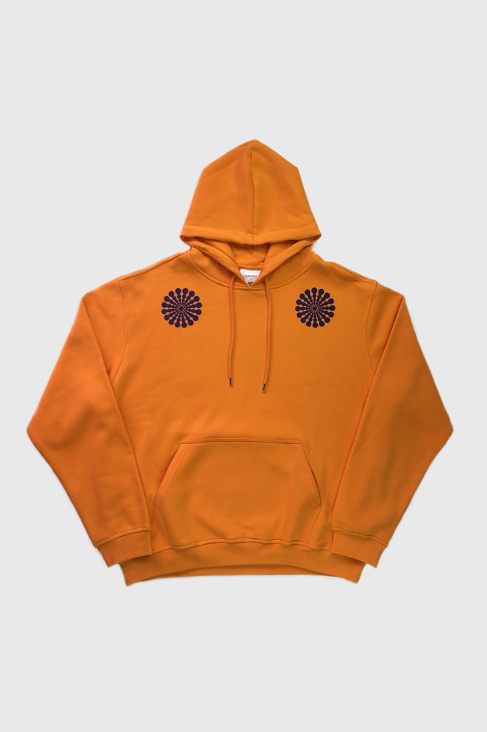 HANGER x UO Sleepy Chan Orange Hoodie  - HANGER inc - Made in London Sustainable Ethical Designer Fashion Latex Rubber Clothing