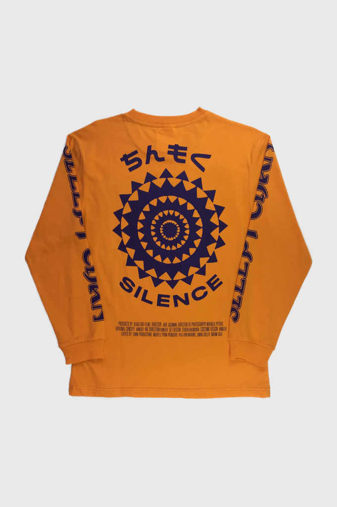 HANGER x UO Sleepy Chan Orange Long-Sleeve Tee  - HANGER inc - Made in London Sustainable Ethical Designer Fashion Latex Rubber Clothing