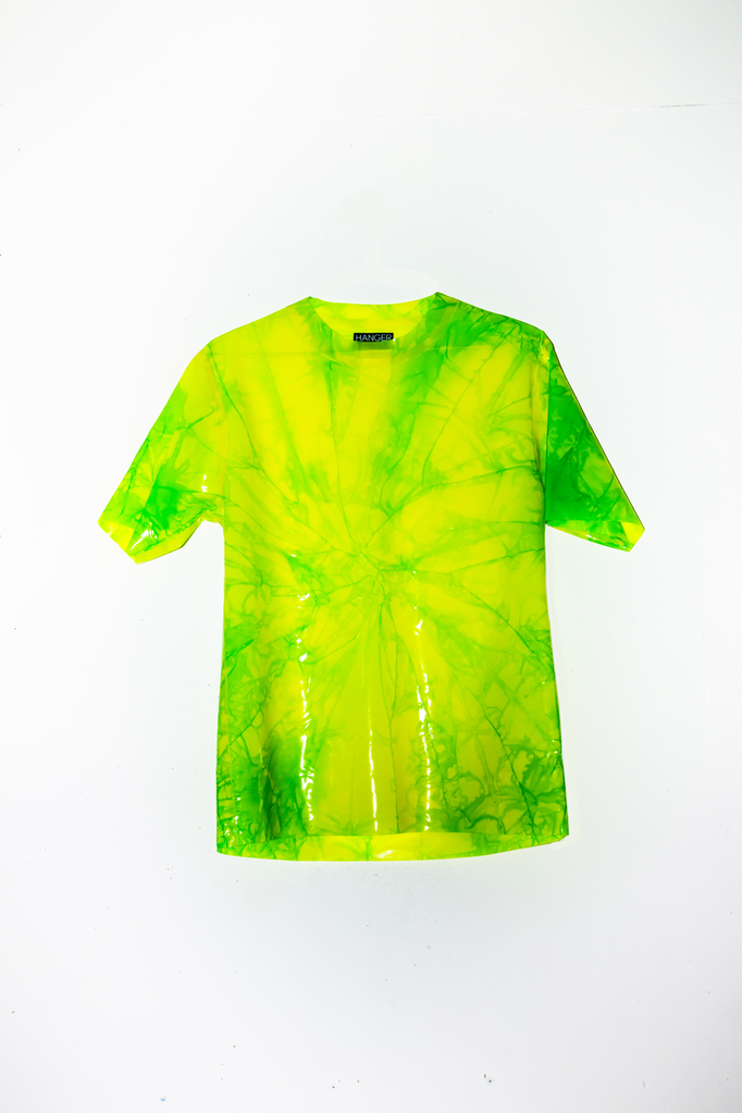 4/20 GREEN CRACK Latex Tee - MARBLED  - HANGER inc - Made in London Sustainable Ethical Designer Fashion Latex Rubber Clothing
