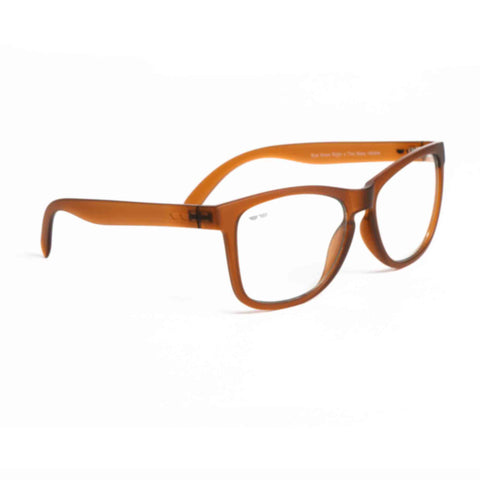 THE BOSS™ vALPHA IN BURNT IN CLEAR | Blue Light Filter Eyeglasses  |  Eye Know Right™