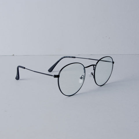 THE BURGIS™ vAlpha in CLEAR SPECS in Black Matte