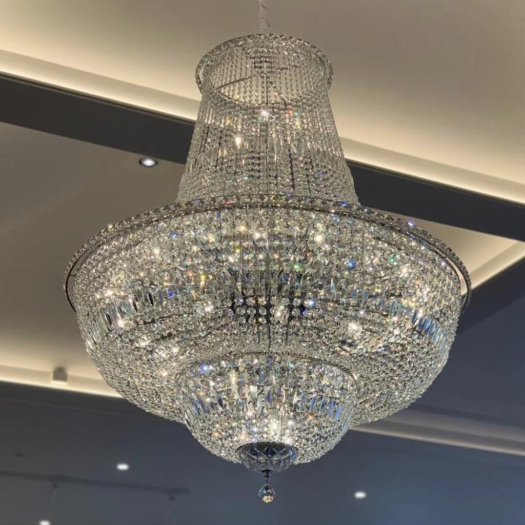 Milan Chrome Basket Chandelier 100