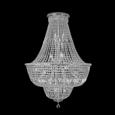 Milan Chrome Basket Chandelier 80