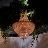 Milan Gold Basket Chandelier 80