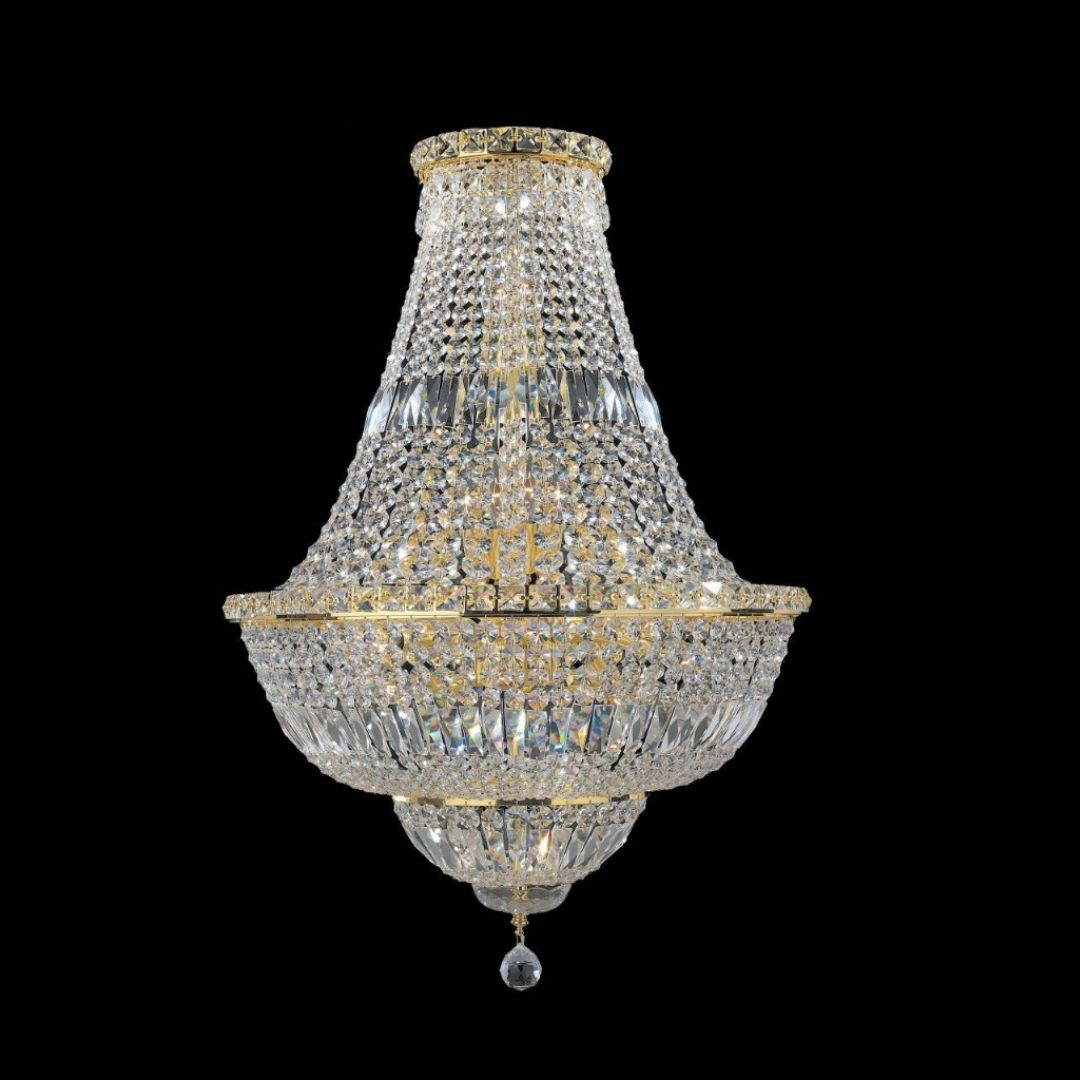 Milan Gold Basket Chandelier 55