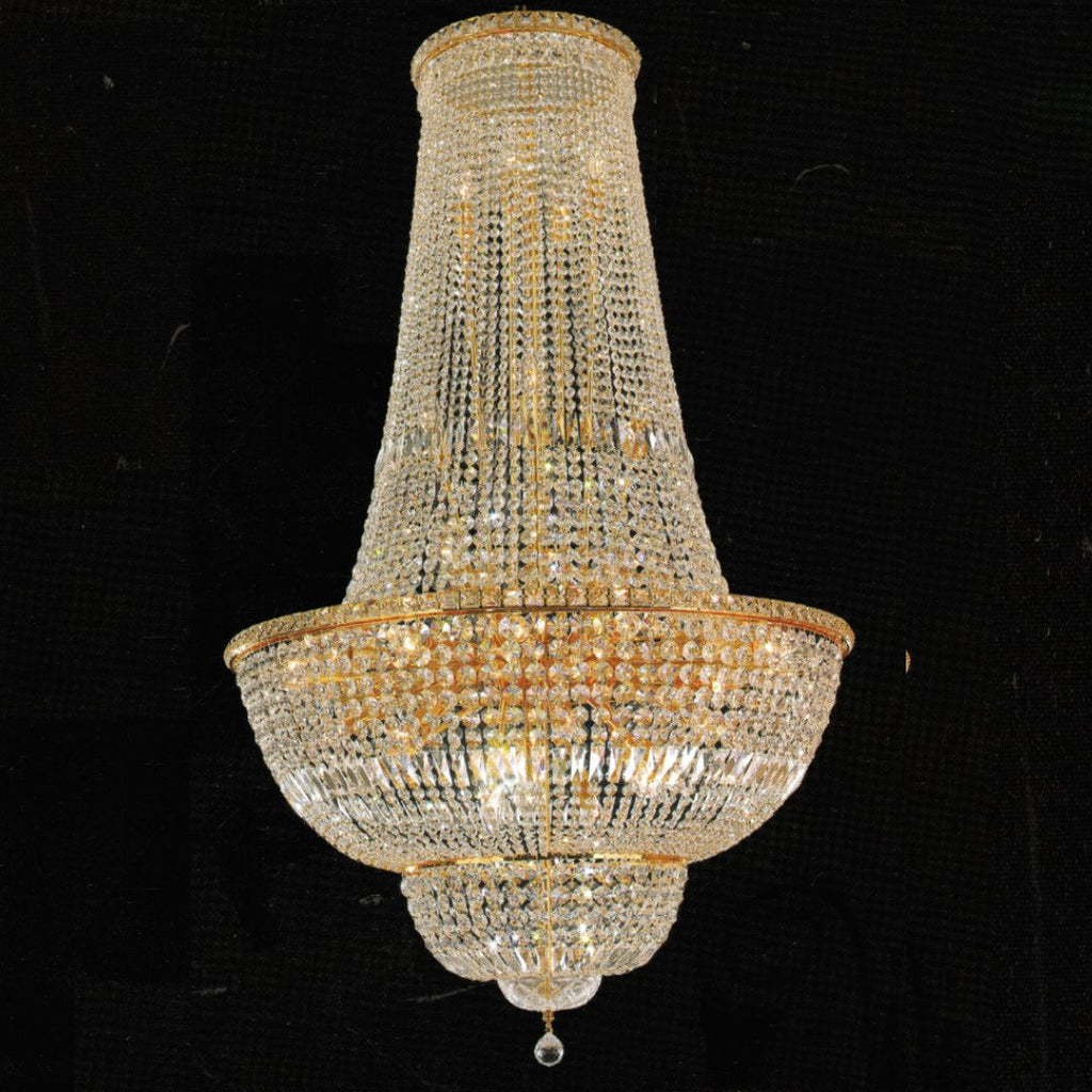 Milan Gold Basket Chandelier 90