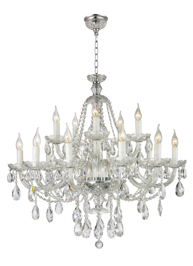 Victorian Chrome Crystal Chandelier 90